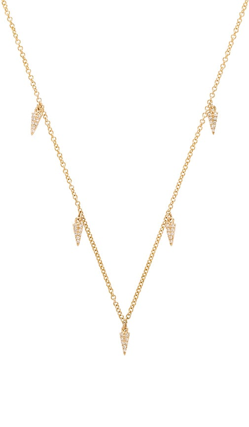 Sachi 5 Dagger Necklace in Yellow Gold