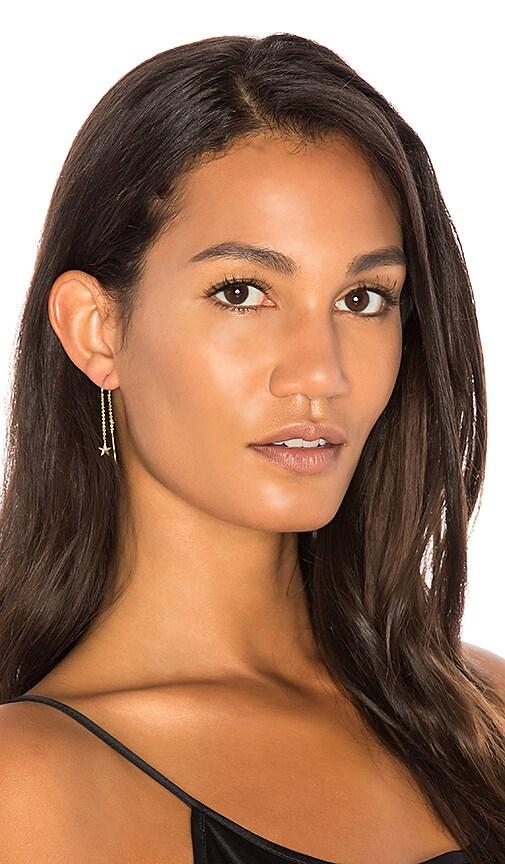 Sachi x REVOLVE Pave Star Threader Earrings in Metallic Gold