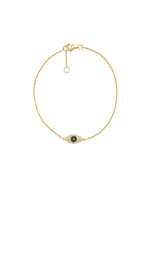 Sachi Evil Eye Sapphire Bracelet in Metallic Gold