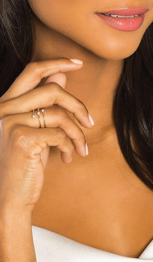 3 Diamond Spiral Ring