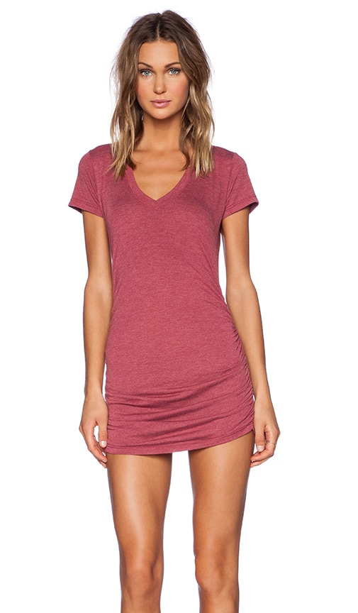 V Neck with Shirring Dress