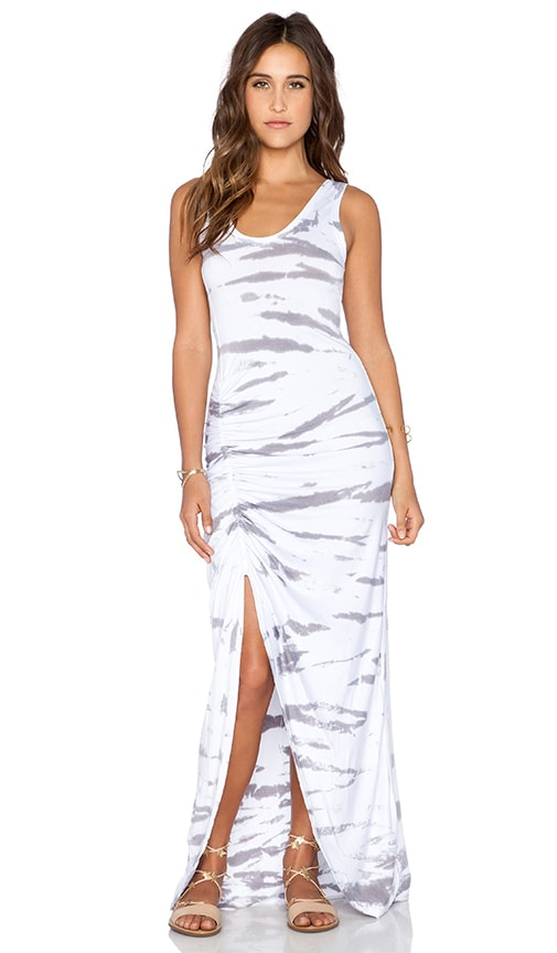 Saint Grace Gita Maxi Dress in Stone Tiger Wash