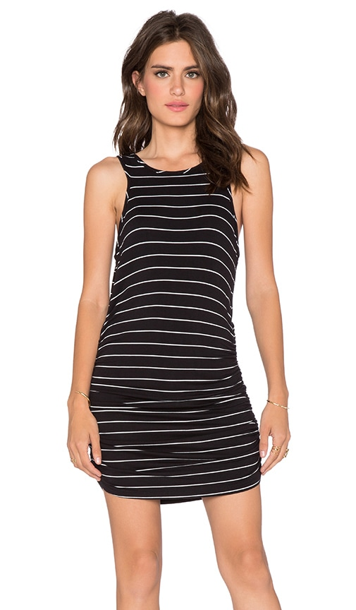 Saint Grace Holy Muscle Tank Dress in Black & White