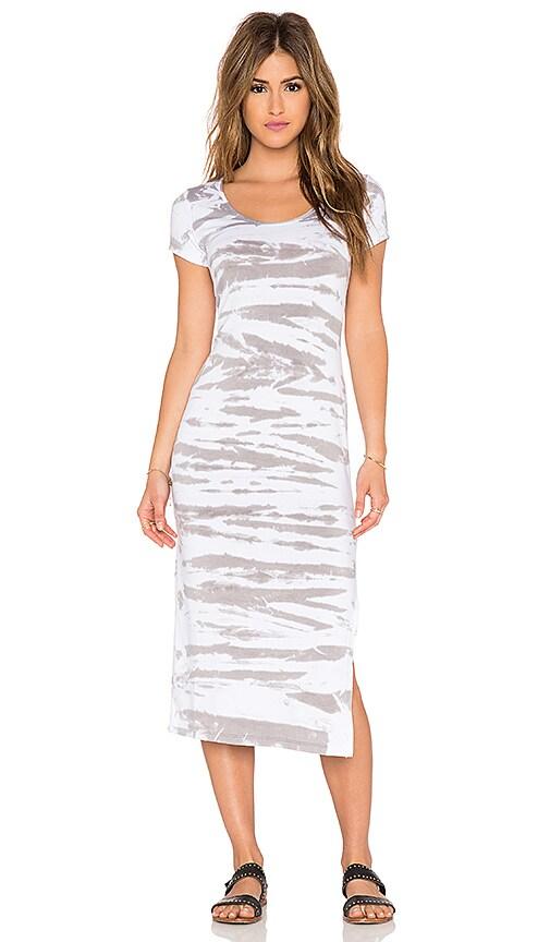 Saint Grace Tilly Midi Dress in Dove Tiger Wash