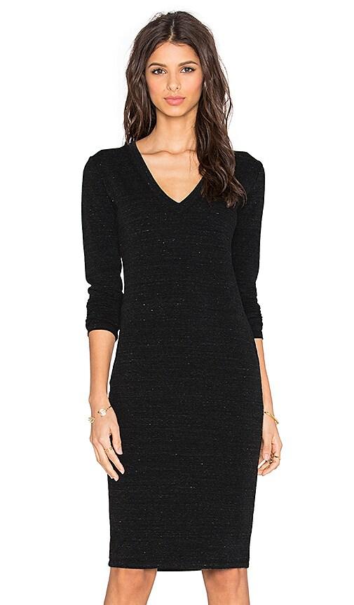 539ed400e18d Saint Grace Long Sleeve V Neck Mini Dress in Black