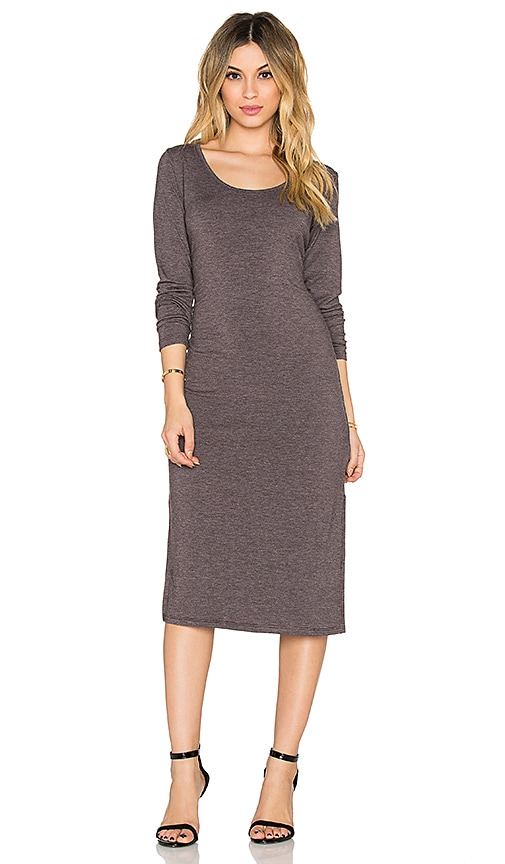 Saint Grace Long Sleeve Midi Dress in Espresso