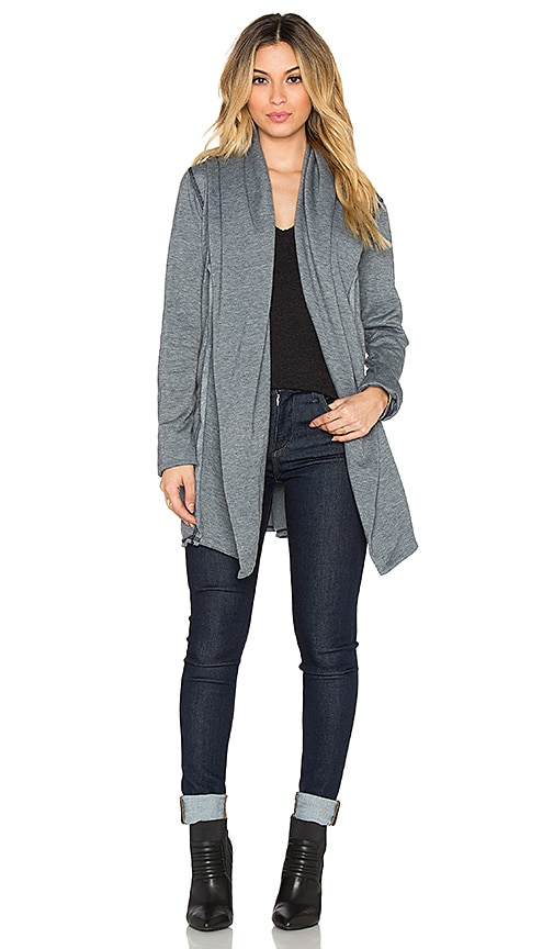 Saint Grace Hoodie Cardigan in Black