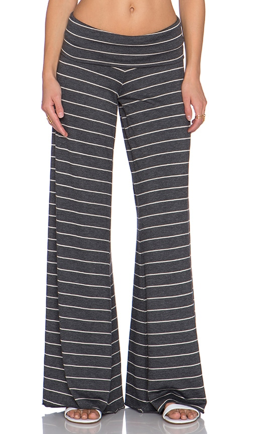 Saint Grace Carol Wide Pant in Charcoal & Cream