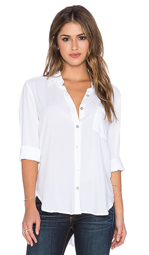 Saint Grace Gent Button Up Top in White