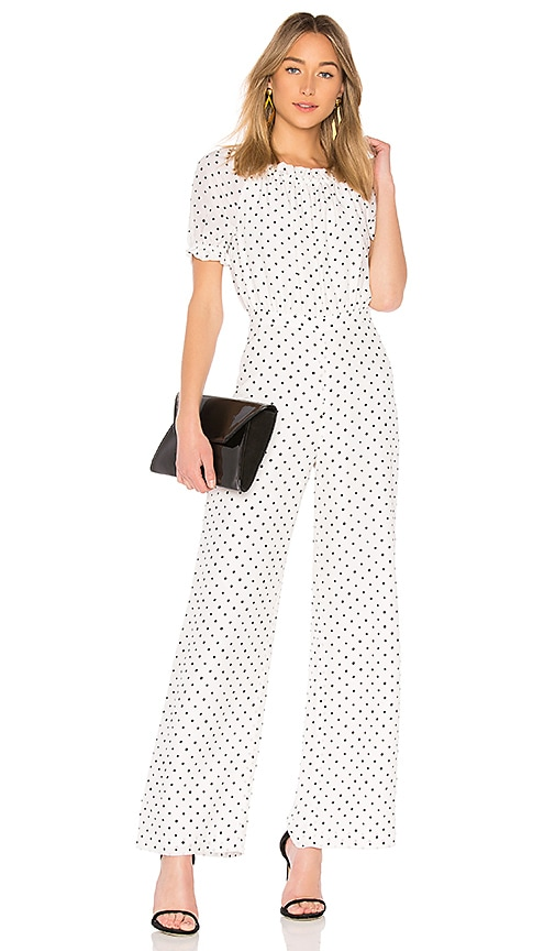 SALONI Juli Jumpsuit in White