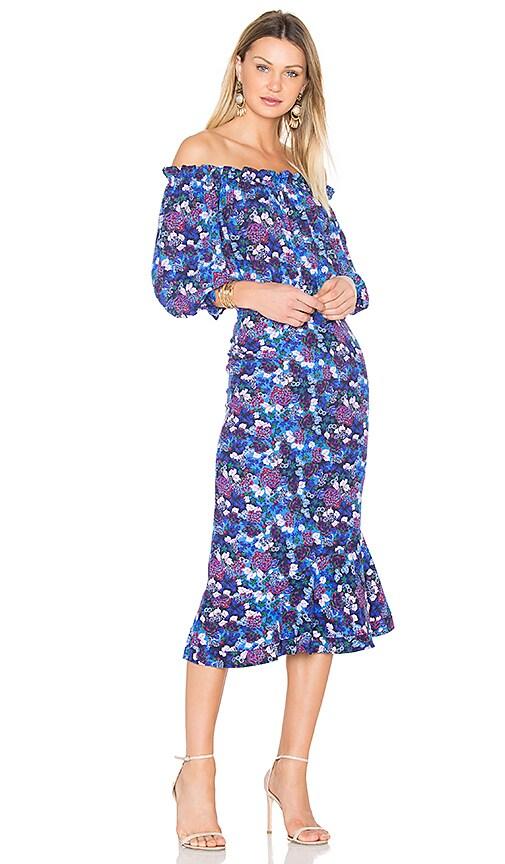 SALONI Grace Dress in Blue
