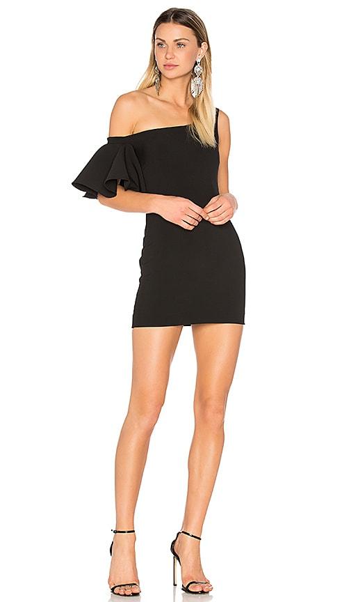 SALONI Greta Short Dress in Black