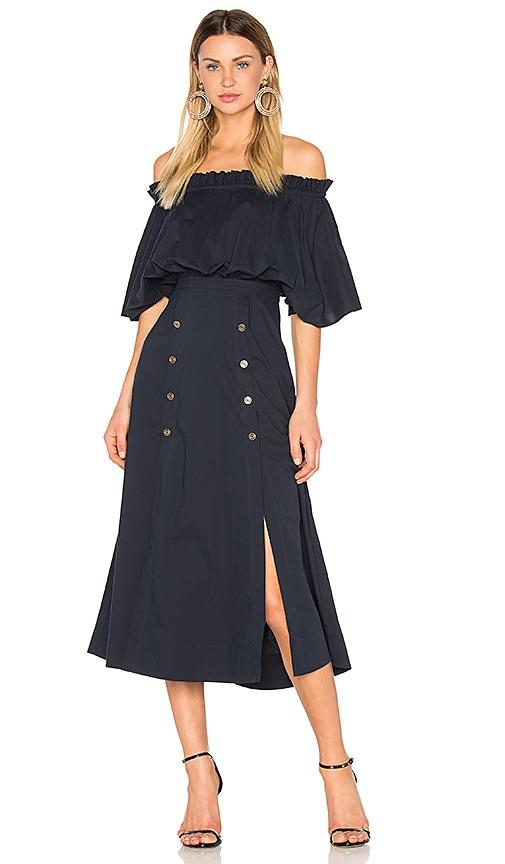 SALONI Dakota Dress in Navy