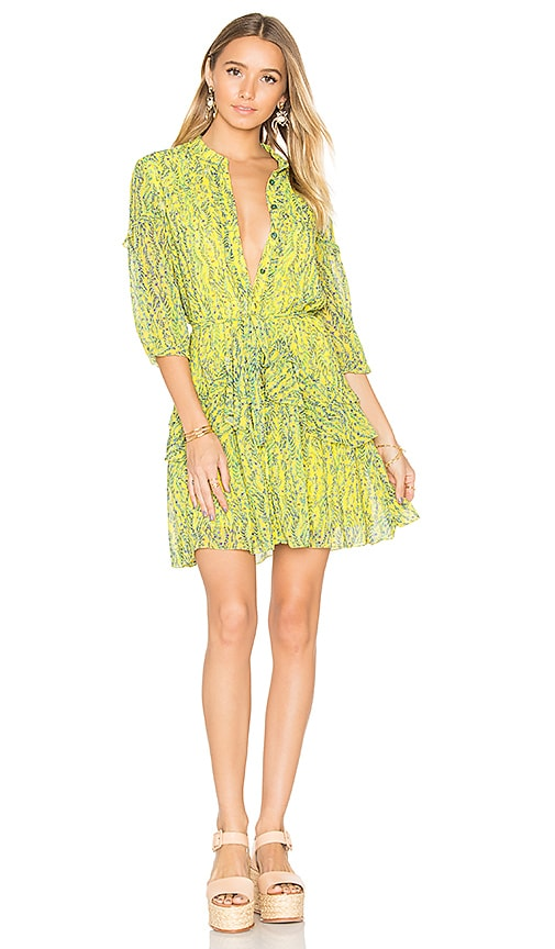 SALONI Tilly Ruffle Dress in Yellow