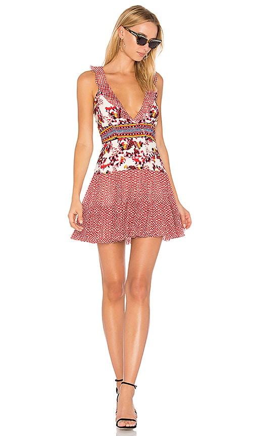 SALONI Amy Mini Dress in Red
