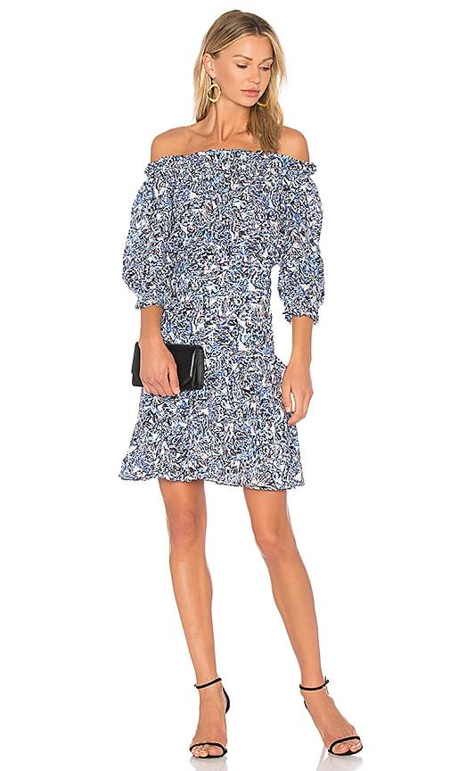 SALONI Grace Mini Dress in Blue