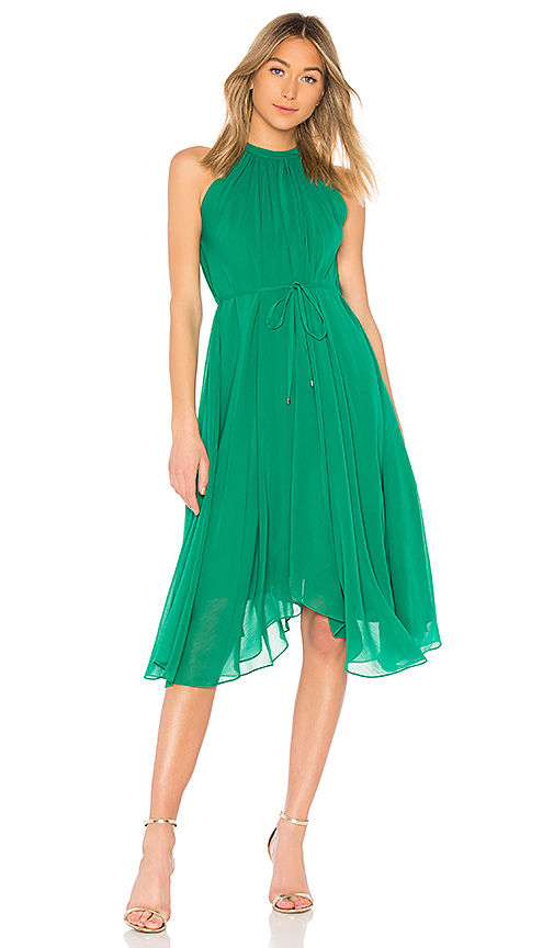 SALONI Iris Short Dress in Green