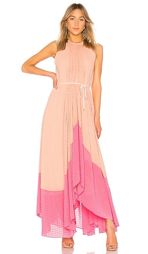 SALONI Iris Dress in Peach