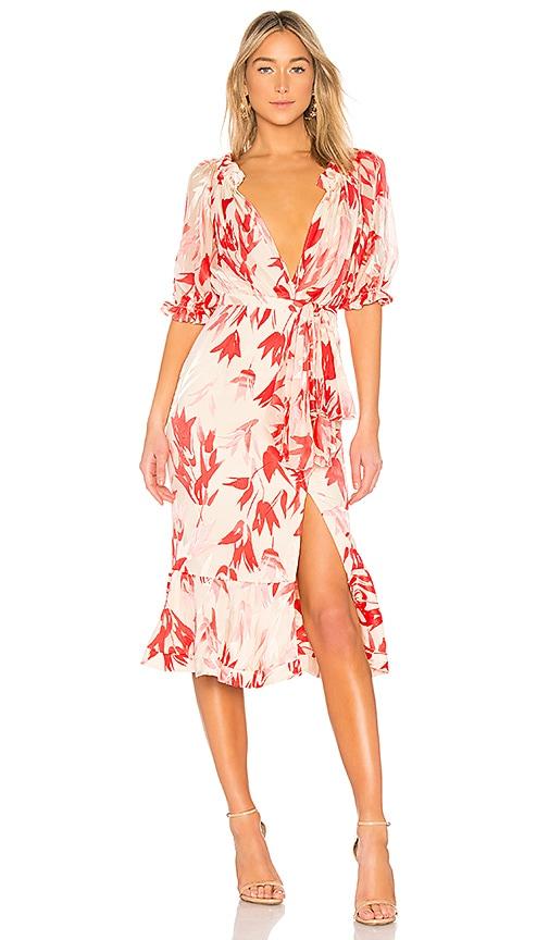 SALONI Olivia Dress in Coral