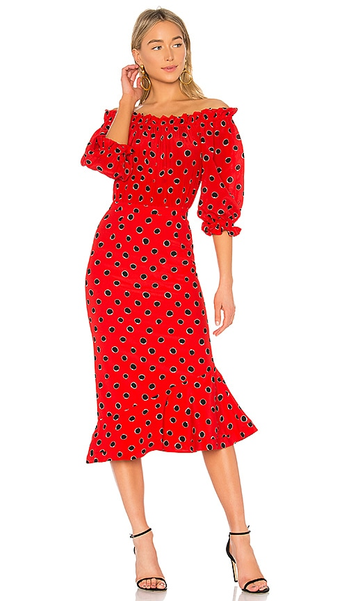SALONI Grace Dress in Red