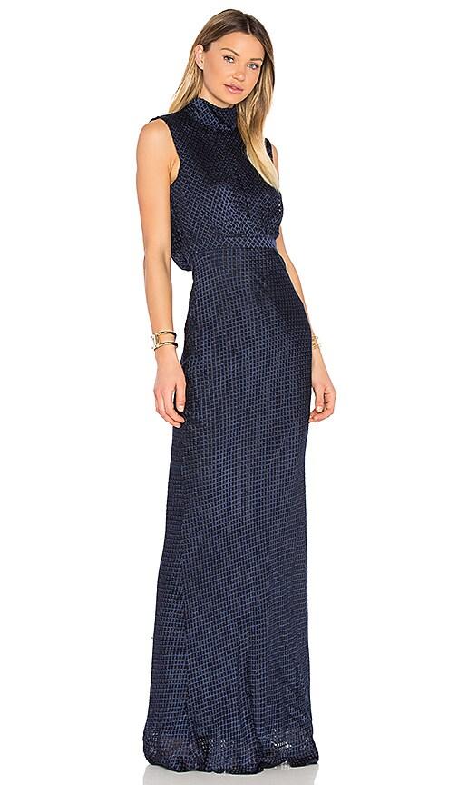 SALONI Fleur Dress in Blue
