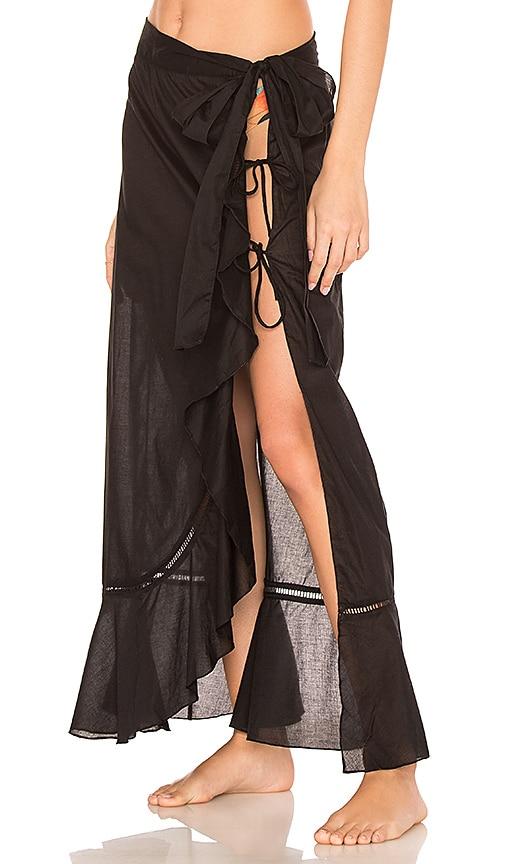 Salinas Wrap Skirt in Black