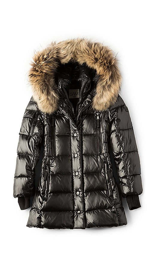 SAM. Millennium Jacket with Asiatic Raccoon Fur in Black