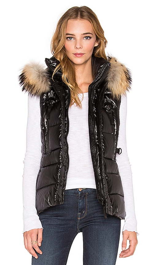 SAM. Legacy Fur Vest in Black