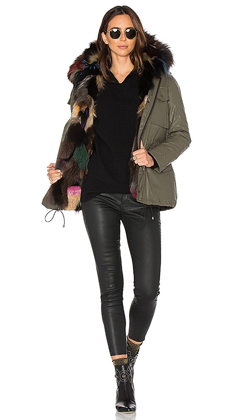 SAM. Multi Kate 4-in-1 Jacket with Fox Fur in Army