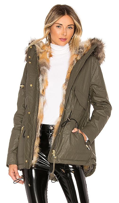 Mini Luxe Limelight Parka With Fur Lining