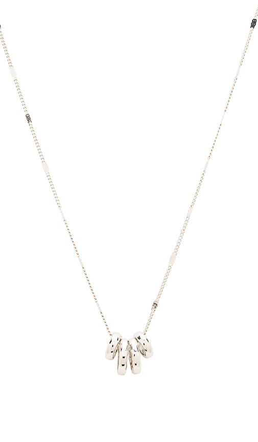Sam Edelman Baby Ring Necklace in Rhodium
