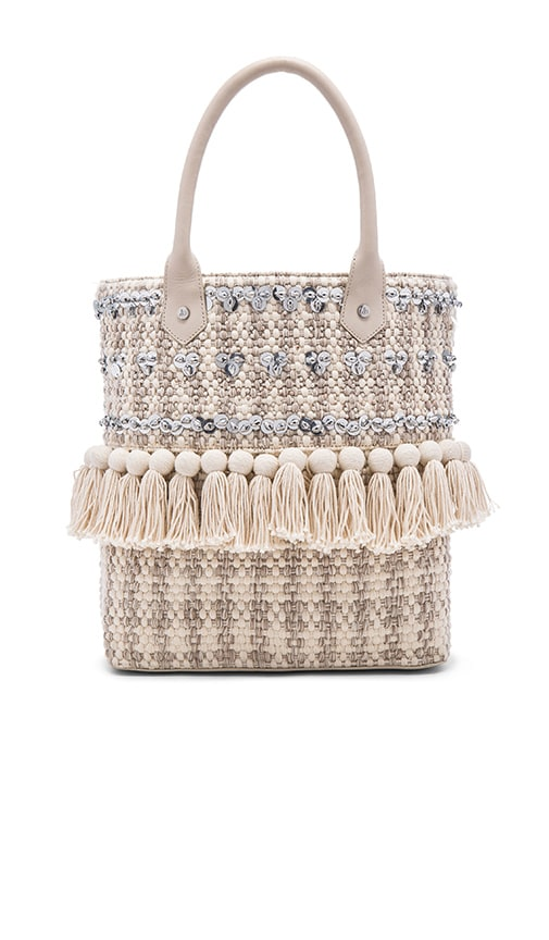 Sam Edelman Tori Sequin Tote in Cream