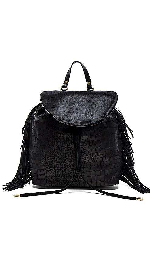 Sam Edelman Fringe Backpack in Black