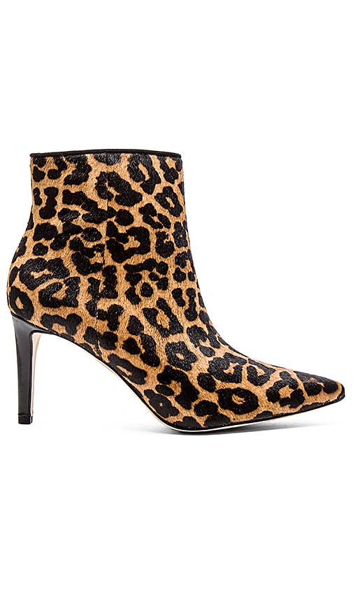 Sam Edelman Karen Calf Hair Bootie in Brown Leopard