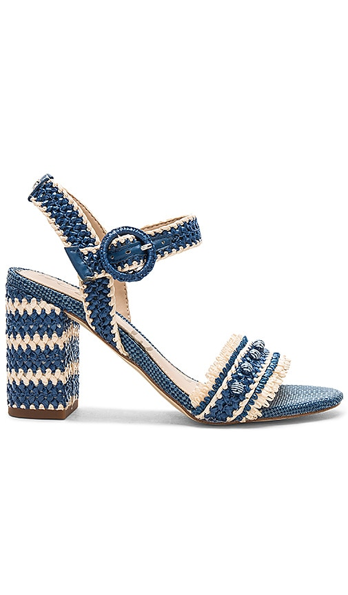 88703dd7fa4e Sam Edelman Olisa Heel in Denim Blue Raffia
