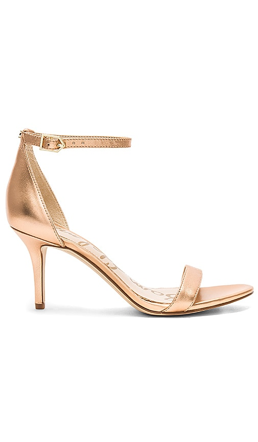 Mina Heel in Metallic Gold. - size 6 (also in 10,5.5,6.5,7,7.5,8,8.5,9,9.5) Raye