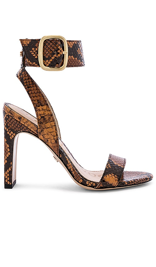 4c0934ff43f Sam Edelman Yola Sandal in Dusty Orange Snake