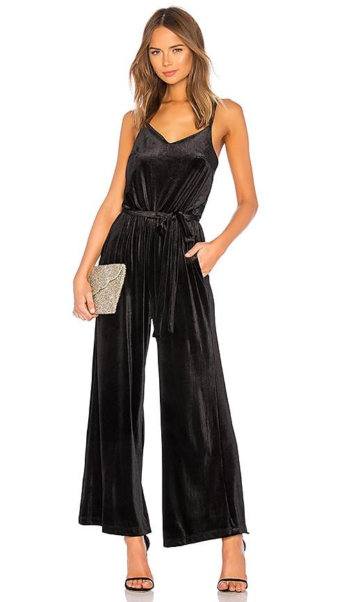 822b7bd3a69 Sanctuary One Night Only Velvet Jumpsuit in Black | REVOLVE