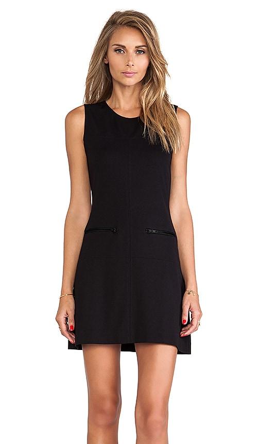 Sanctuary Zip Mod Molly Dress in Black