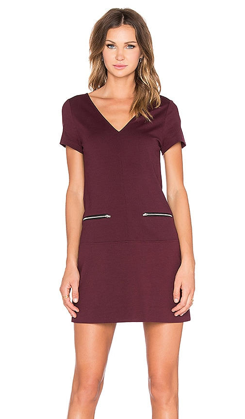 Sanctuary Red Mini Dress in Mulberry