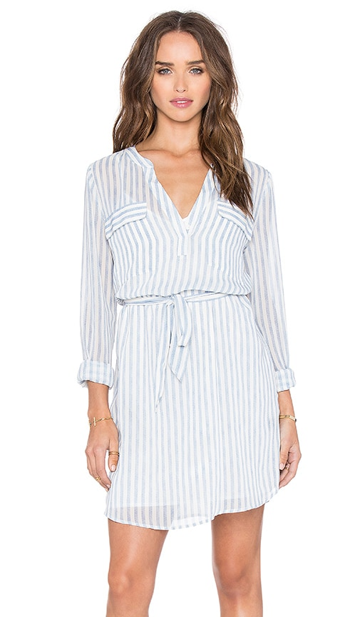 Sanctuary Spring City Shirt Dress in Laundry Stripe