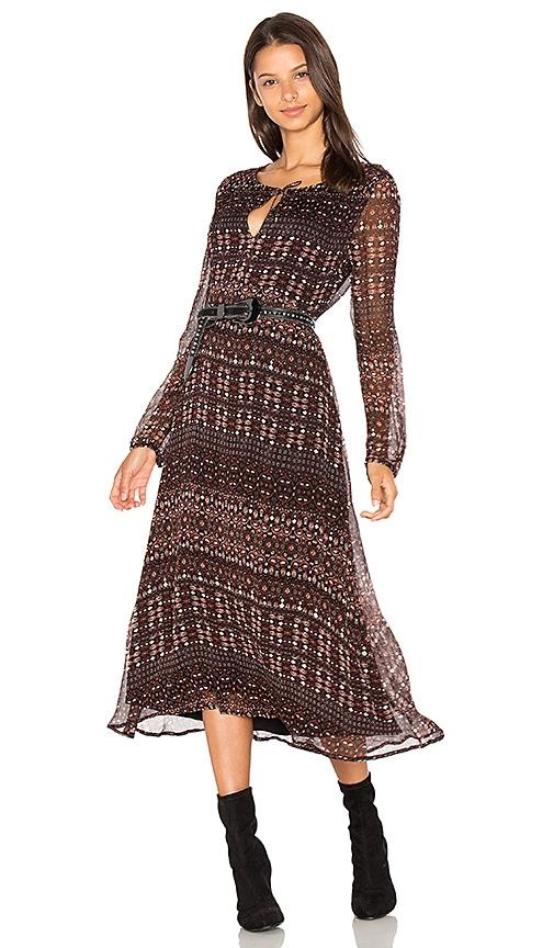 Sanctuary Fleur Midi Dress in Brown