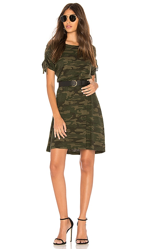 Sanctuary Ojai Camo T Shirt Dress in Green