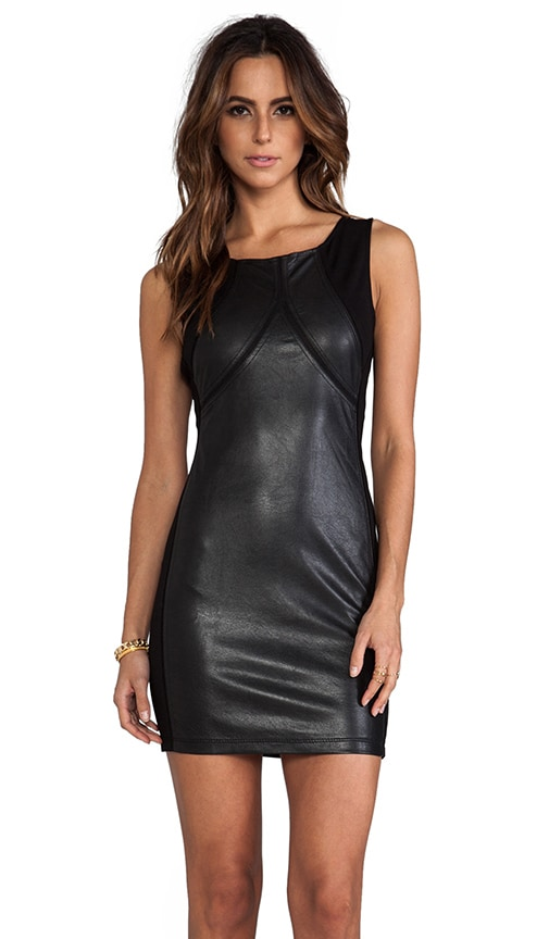 Mesh Insert Vegan Dress