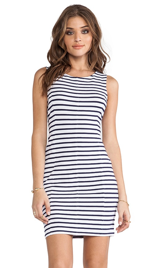 Spring Stripe Bodycon Dress