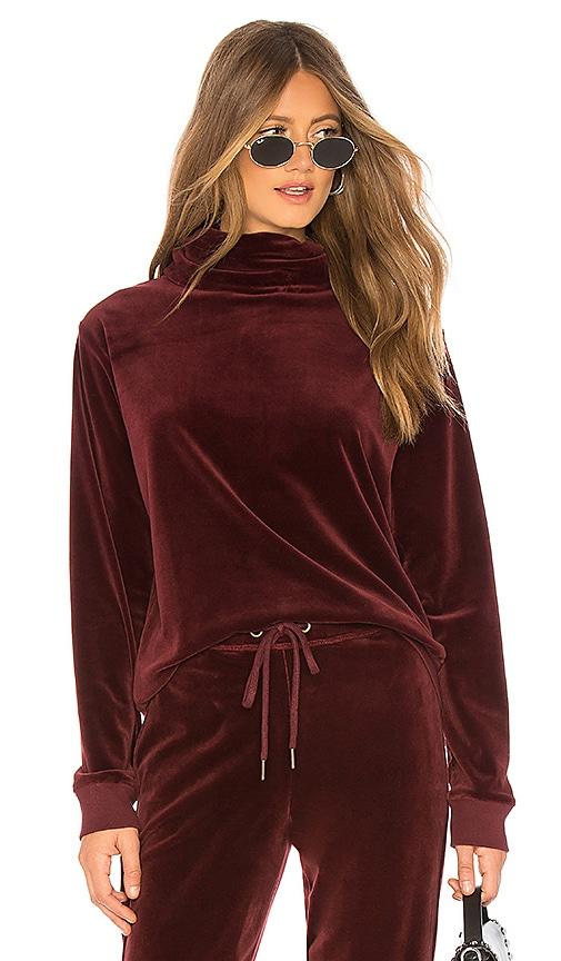 Velour Cowl Pullover
