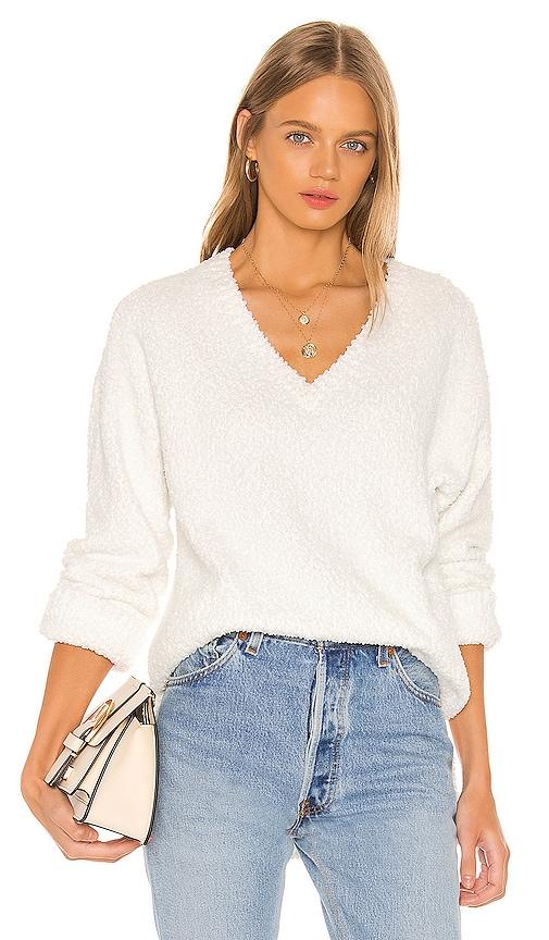 V Neck Teddy Sweater