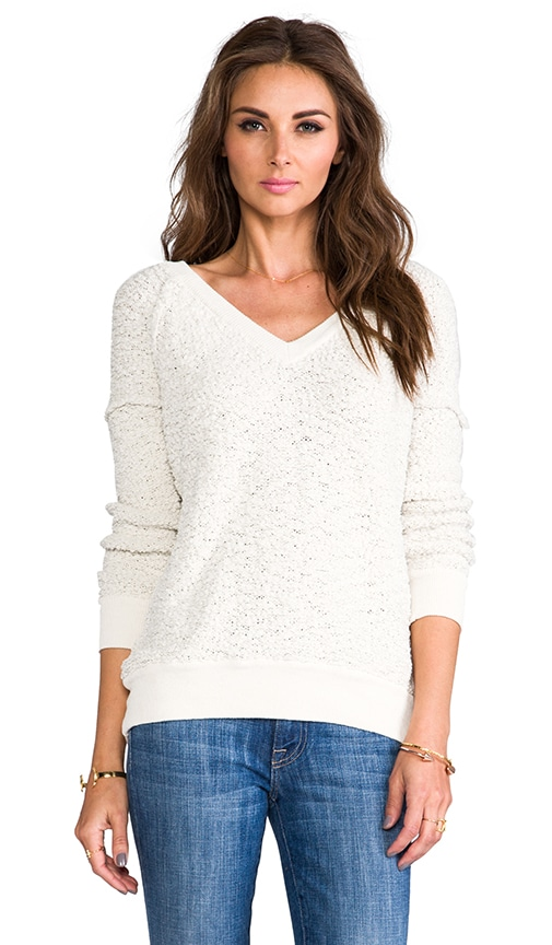 V-Neck Boucle Sweater