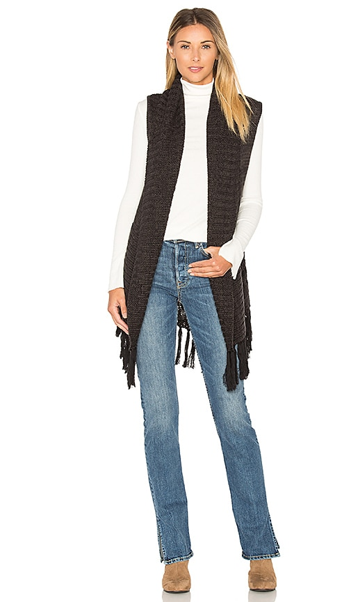 Sanctuary Lucie Vest in Charcoal