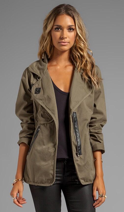 Stretch Fine Twill Slouch Army Jacket